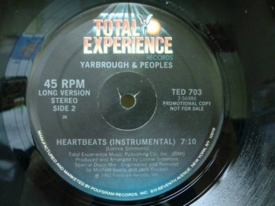 画像1: YARBROUGH&PEOPLES/HEARTBEATS/'82年/12inch