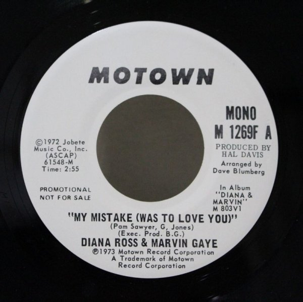 画像1: Diana Ross & Marvin Gaye / My Mistake (Was To Love You)  (1)